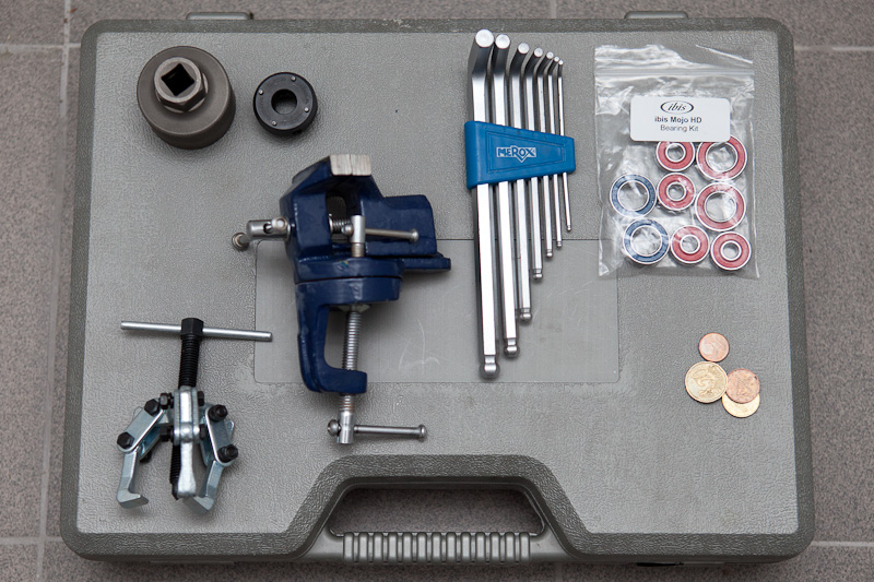 Tools needed for Ibis Mojo HD frame bearings replacement