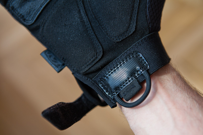 Mechanix M-Pact glove velcro detail